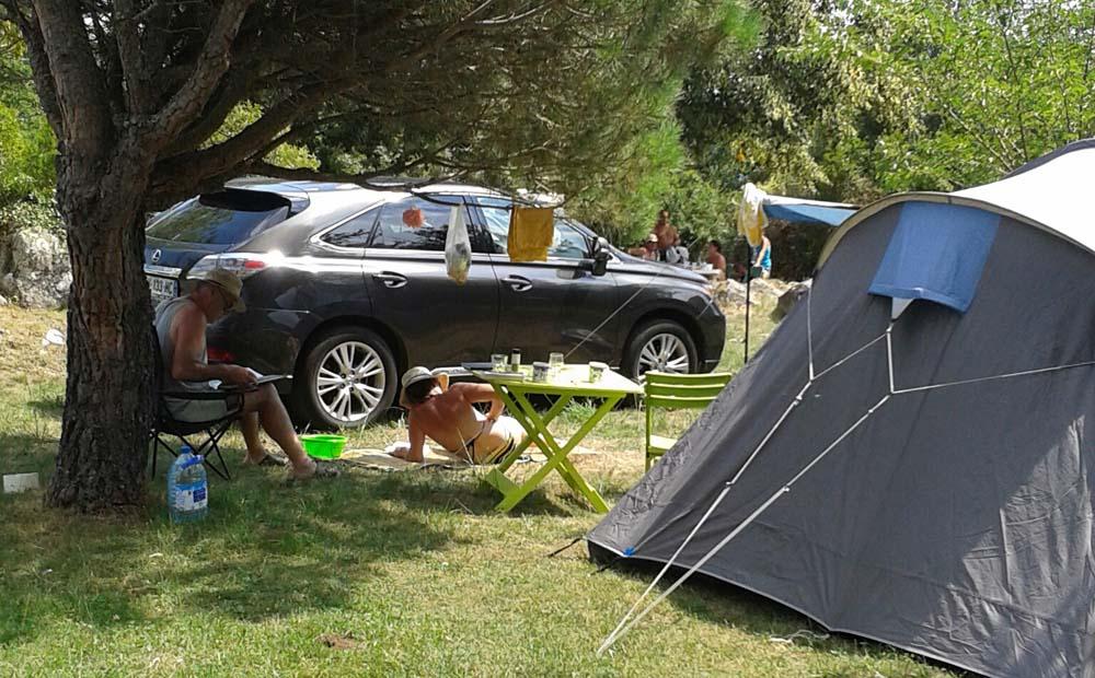 Location emplacement pour tente - Camping Le Cortsavi